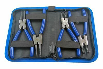 "US PRO Tools 4pc 6"" Circlip Pliers, Internal External Set In Zip Pouch NEW 2059"