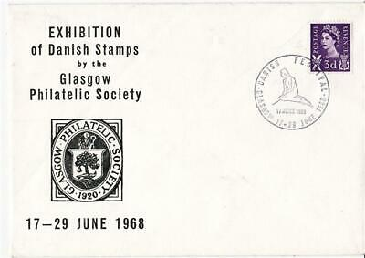 1968 Glasgow Philatelic Society - Exhibition of Danish Stamps Cover