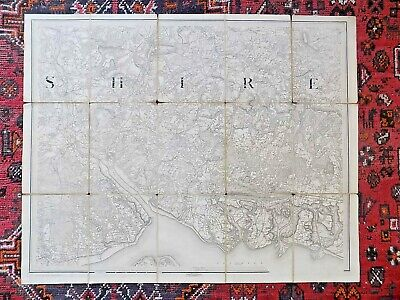 1851 Original First Series Ordnance Survey Map Hampshire Old Antique Southampton