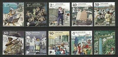 Singapore 2019 S'pore Bicentennial Comp. Set Of 10 Stamps In Mint Mnh Unused