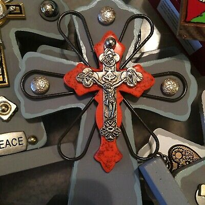 CRUCIFIX-2 standing DESIGNS-ONE OF A KIND (handcrafted and embellished)