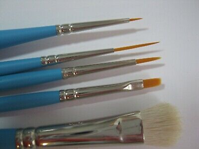 Reborn Doll Artist Paint Brush Set. (5 different brushes)