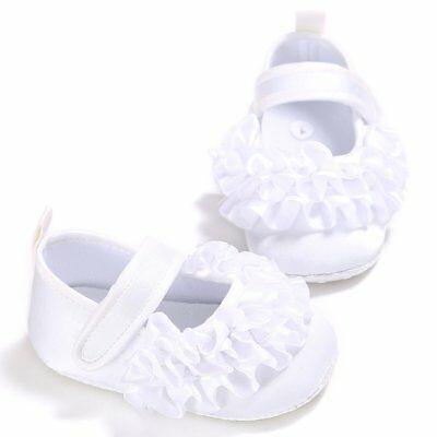 Baby Girls Shoes Lace Flowers Soft Sole Newborn Princess Shoes 8q