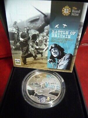 2010 Battle Of Britain 70th Anniversary £5 Silver Proof Coin Limited Edition