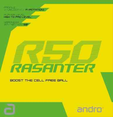 TABLE TENNIS RUBBER: Andro Rasanter R50 Rubber