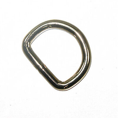 "1"" Heavy Duty D-Ring Nickel Plated 10 Pack 5.2mm"