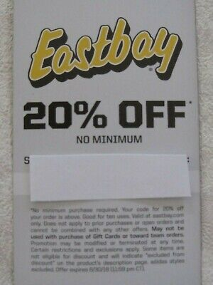 Eastbay 20% Off Coupon No Minimum Exp 8/5/2019-Supply Running Low! Buy Now!