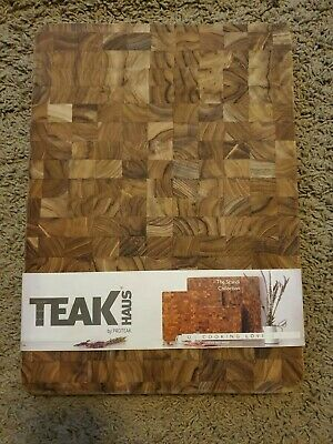 Teak Haus by ProTeak cutting board 14x10 1 inch thick 801 rectangle