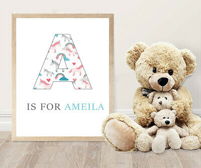 Personalised You Choose Name Letter Image Wall Art Print Poster Ideal Gift
