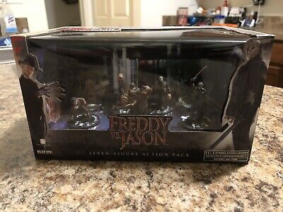 08' Horrorclix FREDDY vs. JASON 7 Figure Action Pack SEALED Never Opened Wizkids