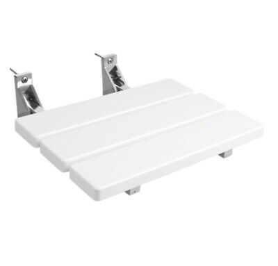 Bath Store White Shower Seat with Stainless Steel Frame