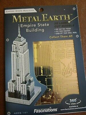 Empire State Building 20 Teile 3D-Metall-Bausatz ICONX Metal Earth 1310