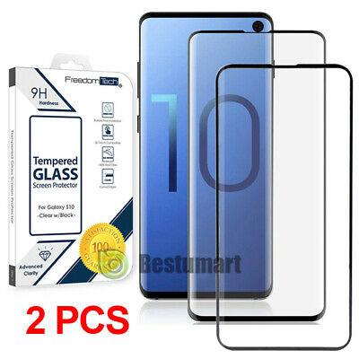 2x Samsung Galaxy S10/S10 Plus 10e Full Coverage Tempered Glass Screen Protector
