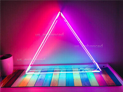 """New Equilateral Triangle Acrylic Neon Sign Light Lamp Bar Wall Room Decor 32"""""""