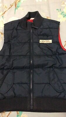 Boys Country Road Navy Blue Puffer Vest Size 8