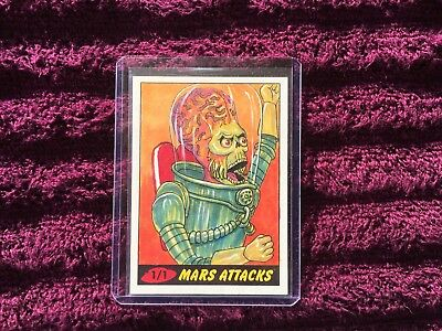 mars attacks sketch card 1/1