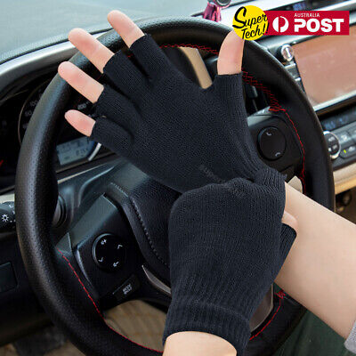 Women Men Lady Gloves New Fashion Knit Fashion Winter Cotton Fingerless Gloves