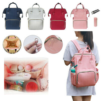 Baby Diaper Nappy Mummy Changing Bag Backpack Multi-Function USB Charging Bag UK