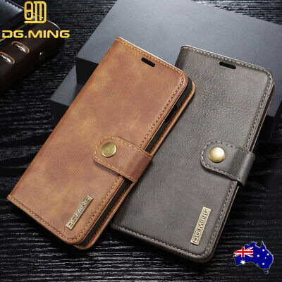 For Samsung Galaxy S10 5G Case Magnetic Flip Leather Wallet Card Removable Cover