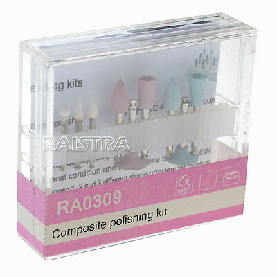 RA 0309 Dental Composite Polishing Burs Kit For Low Speed Contra Angle Handpiece