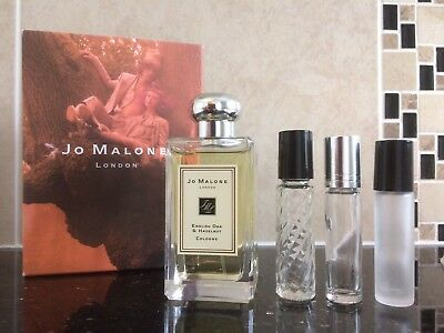 Jo Malone English Oak & Hazelnut Cologne In New Glass 10Ml Roll On Bottle