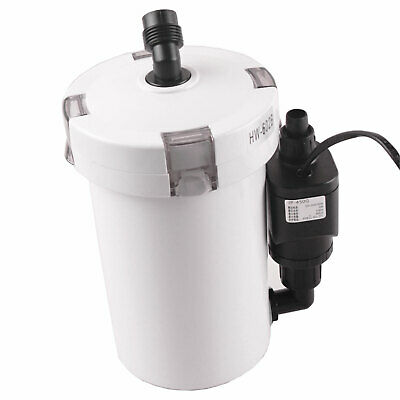 6W Aquarium External Canister Filter Fish Tank Water Sponge Multi Stage Pump
