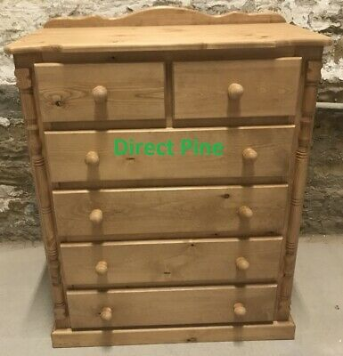 Pine Furniture Buckingham 4+2 Chest In Old Antique Wax No Flat Packs!!