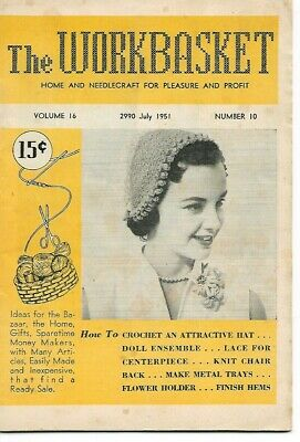 The Workbasket Magazine Vintage, July 1951 Volume #16, Number 10