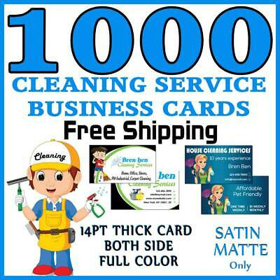 1000 House-Office-Window-Cleaning Service Business Cards