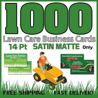 1000 Lawn Care-Landscaping Business Cards