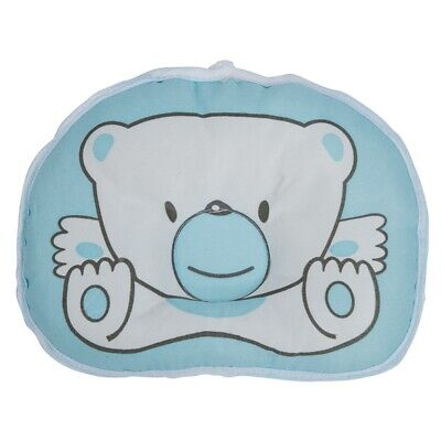 15X(Cute infant pillow with pattern Bear prevent flat head. D5V1)