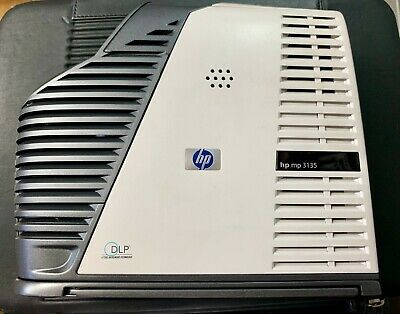 HP MP3135 DLP Projector with HP carry bag and accessories + remote control