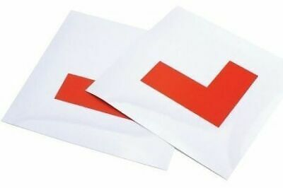 2 Pack - Budget Magnetic Learner Driver L Plates L-Plates Set For Car Van Etc.