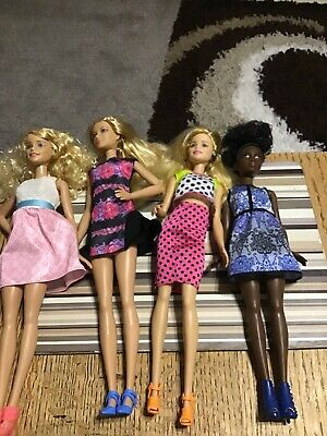 Barbie Fashionista Dolls X 4 Short Tall Etc. (f2)