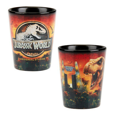 Universal Studios Jurassic World Ceramic Shot Glass New
