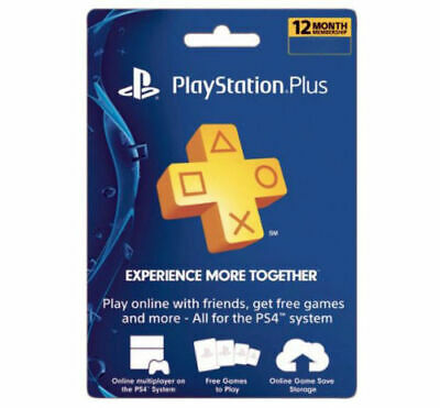 Sony PlayStation Plus 1 Year Membership Subscription