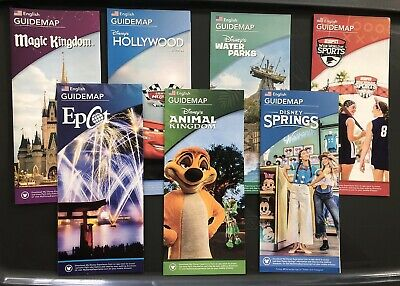 NEW June 2019 Walt Disney World Theme Park Guide Maps- 7 Maps