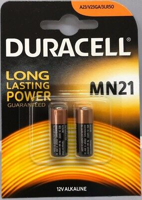 New 2X Duracell Security  Mn21 A23/K23A 12V Lrv08 Battery Twin Pack
