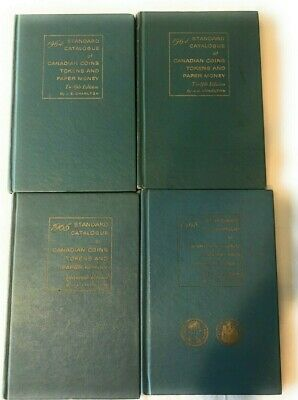Lot Of 4 Standard Catalogue Canadian Coins Token Paper Money Books 1964 1965 68