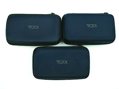 TUMI Delta Airlines Hard Cases Amenity Kit -  Blue CASES ONLY - Lot of 3