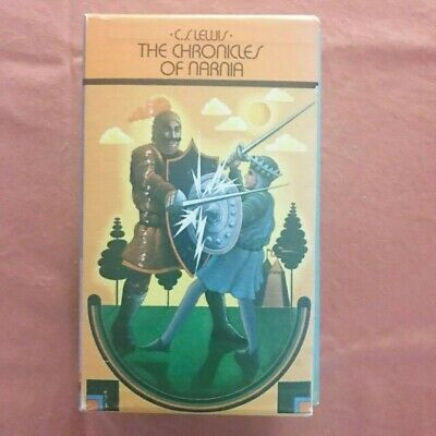 Chronicles of Narnia Box Book Set Volumes 1-7 Vintage 1970s C.S. Lewis