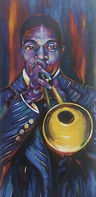 """Blues Musician /""""LEADBELLY/"""" print by Richard Lewis French Quarter New Orleans"""