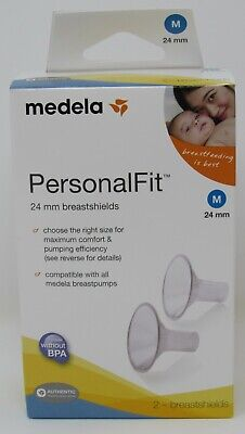MEDELA Authentic NEW 24mm Breast Shields Size M Replacement Spare Parts Pump