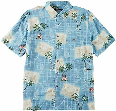 Boca Classics Mens Postcard Print Short Sleeve Shirt