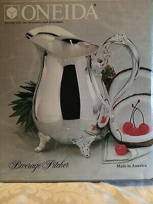 New In Box Oneida Silverplated 2Qt Du Maurier Beverage Pitcher W/Ice Catcher Lip