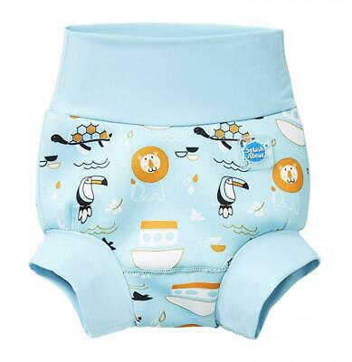 Splash About Baby Kids New Improved Happy Nappy 0-3 Months, Blue(Noah's Ark)