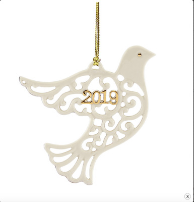Lenox Christmas A Year To Remember Dove Ornament Dated 2019 884491