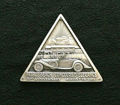 2001 Pebble Beach Concours d'Elegance Pewter Dash Plaque MERCEDES-BENZ LtEd 1200