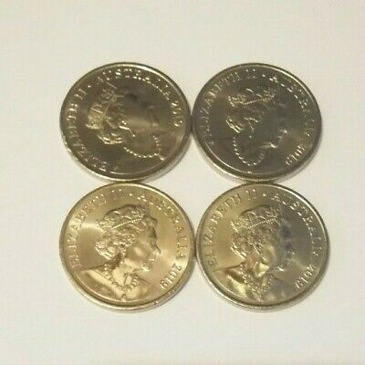 4 x 2019 10 Cent Coins - New Effigy on the Obverse - From Mint Bag