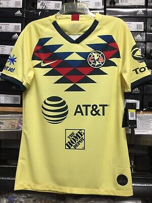sneakers for cheap 687d4 f284b CLUB AMERICA WHITE 2017/18 Nike Stadium Soccer Jersey Size ...